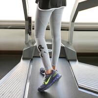 健身房女春夏跑步长裤灰色速干瑜伽裤弹力贴身运动长裤 PI041裤子