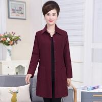 妈妈装秋装外套中长款针织开衫40-50岁披肩外搭中年女装长袖上衣