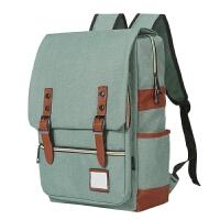 双肩包女韩版学院风背包大学生书包男.6寸14寸休闲旅行包电脑包