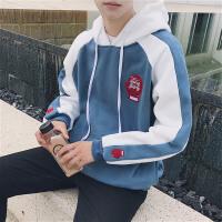 韩版春装新款卫衣男连帽长袖宽松bf风学生套头运动外套男女棒球服