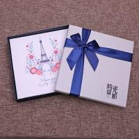 皮面手工diy相册覆膜粘贴式韩国创意情侣浪漫影集家庭宝宝纪念本抖音 +礼盒套装