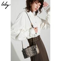 【5/26-6/1 一口价:229元】 Lily秋女装时髦艺术感手拿包斜跨单肩小箱包119310BZ407