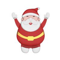 {夏季贱卖}车载手机架卡扣式创意圣诞老人出风口支撑架汽车手机导航支架车用 圣诞老人车载手机架