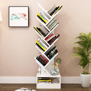 书架 落地组合创意异形书房书柜树形分布置物架组合简约多功能创意格子柜储物陈列架