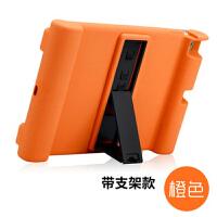 七夕礼物 新款iPad保护套Air2硅胶套4苹果平板电脑ipad5全包3支架9.7寸 Air1 橙色支架款