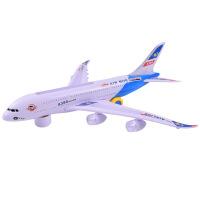 空中巴士 A380闪光电动飞机直升机儿童电动玩具飞机模型拼装玩具