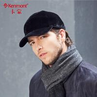 男士帽子冬季中老年加厚户外保暖冬帽仿羊绒棒球帽防冻护耳帽2501