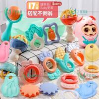 婴儿玩具手摇铃牙胶0-1岁半手抓握训练8新生儿3-6-12个月宝宝