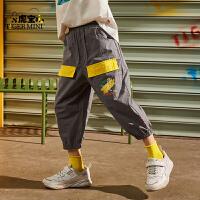 【3件2折:57元】小虎宝儿男童纯棉短裤2021夏季儿童工装裤宽松中大童韩版潮
