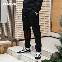VIISHOW2017秋装新品休闲长裤男束脚卫裤运动风男士慢跑裤小脚裤