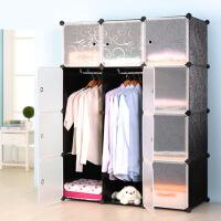 钢架塑料树脂简易衣柜折叠组装儿童收纳柜子组合衣橱 f4c