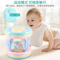 儿童玩具6-12个月益智宝宝音乐手拍鼓婴儿拍拍鼓充电旋转木马玩具