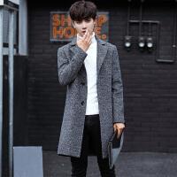 20秋冬季男士风衣中长款羊绒大衣男韩版潮青年帅气百搭修身外套