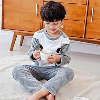 秋冬厚款3-5-7-9周岁女童珊瑚绒睡衣冬季儿童女法兰绒家居服套装