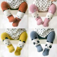 珈楚 冬季新款加厚珊瑚绒宝宝连裤袜 加绒保暖儿童打底裤儿童袜子0-3岁