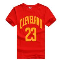 骑士小皇帝詹姆斯新款短袖球衣 篮球短袖T恤 夏季新款男士纯棉短T XX