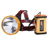 头灯强光充电超亮3000米防水黄光带头上的手电筒头戴式打猎灯