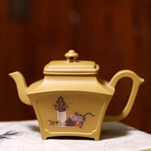 宜兴紫砂壶【四方清雅】高级工艺美术师制作 黄金段 260cc
