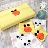 全棉水洗棉刺绣乳胶枕套记忆枕套40×60儿童橡胶枕枕套30×5