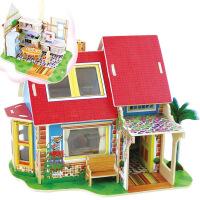若态3d立体木质拼图拼板儿童玩具拼装模型diy小屋创意礼品 DV180厨房