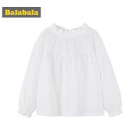 【4折价:55.6】巴拉巴拉童装女童衬衫中大童儿童秋装2018新款韩版甜美长袖上衣女