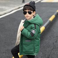 儿童棉衣2018新款冬季中长款韩版男孩外套棉服