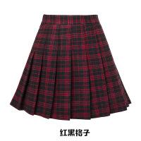 毛呢格子百褶字裙秋冬季新款女高腰韩版冬裙冬天半身短裙子