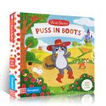 英文原版进口绘本 First Stories:Puss in Boots 穿靴子的猫 Busy系列童话篇 故事机关操作