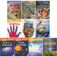 【首页抢券300-100】100 facts Set 4 100个事实 动物的生命 哺乳动物 weather 地球物种和