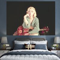 来图定制 玛丽莲梦露 挂布家居直播网红床头宿舍服装店装饰背景布定制
