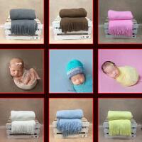 20180604234611855新生儿摄影道具拍摄背景毯子儿童婴儿针织纯色平面针织毯子羊绒毯