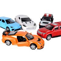 儿童玩具回力小汽车合金车模型套组仿真玩具车跑车轿车警车