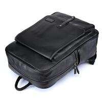 2018新款大容量双肩包韩版男士书包方形竖款背包笔记本电脑包 黑色