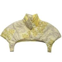 秋冬季加厚护肩保暖睡觉 男女士坐月子坎肩中老年护肩护颈 黄色 黄色花朵 X