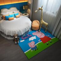 卡通动漫儿童房间地毯垫公主粉色可爱少女心ins卧室床边满铺家用