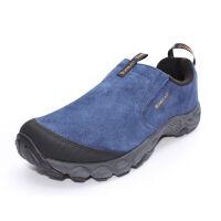 探路者(TOREAD)户外秋冬男式徒步鞋防滑耐磨户外营地鞋TFJC91025藏蓝/深灰