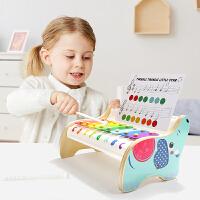 特宝儿 宝宝玩具琴婴儿音乐大象手敲琴儿童八音琴木琴打击乐器18个月以上120407