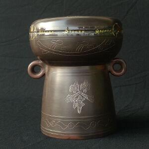 2017年 茂圣 鼓形陶罐茶叶 六堡茶黑茶 500克/罐 1罐
