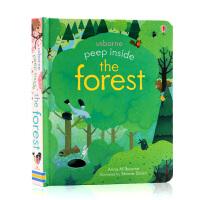 偷偷看里面森林 英文原版 Peep Inside a Forest 儿童启蒙科普益智翻翻洞洞书Usborne出品 纸板