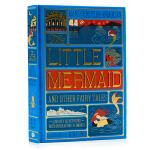小美人鱼及其他安徒生童话立体书 Little Mermaid 安徒生 Andersen 丑小鸭 英文原版 彩色手工全彩