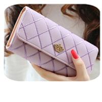 钱包女软皮新款时尚韩版女士长款钱包皇冠多卡位手拿皮夹卡包C