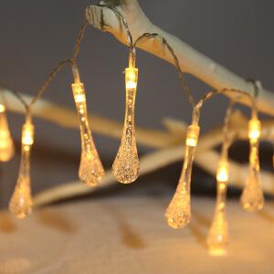 御目 串串灯 led水滴挂件20灯30灯电池灯串室内户外装饰满天星小彩灯满额减限时抢家居用品