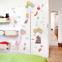 卡通气球动物量身高尺客厅儿童房墙画装饰贴纸测量身高墙贴可移除 卡通气球身高贴 特大