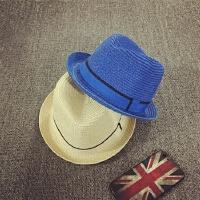 宝宝帽子儿童草帽遮阳帽男女童太阳帽卷边小礼帽防晒帽沙滩度假帽
