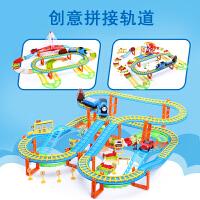 电动拖马斯小火车套装轨道车玩具儿童赛车汽车男孩3-4岁