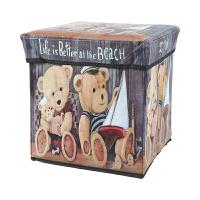 时尚复古收纳凳可坐人储物凳多功能橱柜衣物儿童玩具收纳箱整理盒 27L