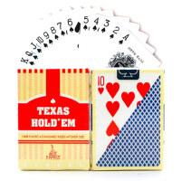 德州扑克牌小字塑料扑克专用扑克牌小字扑克pvc耐磨宽牌德克萨斯