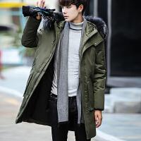 男士中长款羽绒服男2017新款青年外套男冬季修身款韩版潮流秋冬装