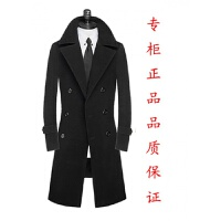 新春秋冬羊绒男士毛呢大衣休闲风衣韩版修身长款保暖外套男装