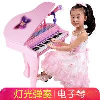 贝芬乐儿童电子琴带麦克风1-3-6岁5女孩女童宝宝初学者小钢琴玩具